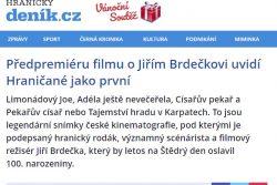 """""""Hraničané film uvidí jako první"""", píše Hranický deník / fotogalerie / Předpremiéra filmu o Jiřím Brdečkovi"""
