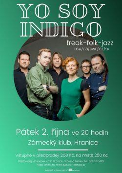 AKCE ZRUŠENA: Yo Soy Indigo v Zámeckém klubu / fotogalerie / Yo Soy Indigo - plakát