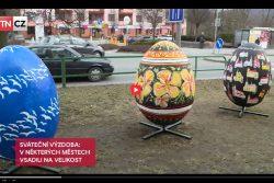 Hranice se objevily v hlavních zprávách TV Nova / fotogalerie / Na Moravě pomalovali obří kraslice